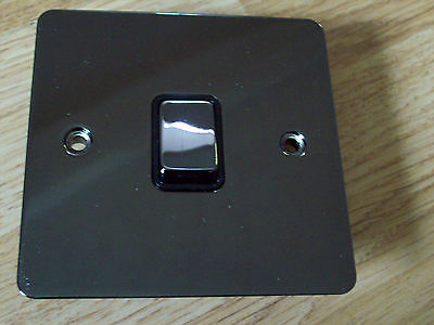 POLISHED BLACK NICKEL LIGHT SWITCHES AND PLUG SOCKETS